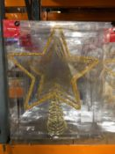 APPROX 14 X CHRISTMAS TREE TOPPERS - GOLD / COMBINED RRP £98.00 / LIKE NEW (IMAGES ARE FOR