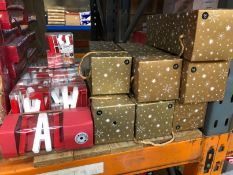 "11 X PACKS OF ""FA LA LA"" STRING LIGHTS AND 7 X CHRISTMAS PRESENT BOXES (IMAGES ARE FOR"
