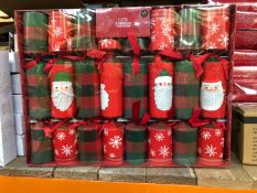 9 X PACKS OF PREMIUM CHRISTMAS CRACKERS / COMBINED RRP £45.00 / LIKE NEW, DAMAGED OUTER PACKAGING (