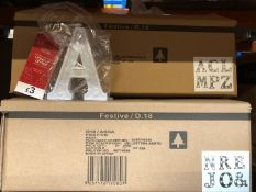 4 X BOXES OF LIGHT UP LETTERS / COMBINED RRP £378.00 / LIKE NEW (IMAGES ARE FOR ILLUSTRATION