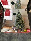 3 X 5FT PRE-LIT SNOWY CHRISTMAS TREES / COMBINED RRP £90.00 / CUSTOMER RETURNS (IMAGES ARE FOR