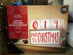 5 X LIGHT UP CHRISTMAS COUNTDOWN BOXES / COMINED RRP £75.00 (IMAGES ARE FOR ILLUSTRATION PURPOSES