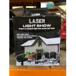 8 X CHRISTMAS THEMED OUTDOOR LASER LIGHTSHOWS / COMBINED RRP £120.00 / CUSTOMER RETURNS (IMAGES