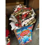 2 X LARGE BOXES OF LOOSE CHRISTMAS CRACKERS AND 3 X DISNEY ADVENT CALENDARS (IMAGES ARE FOR