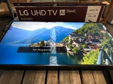 """LG 65"""" SMART 4K ULTRA HD LED TV - 65UN80006LA / RRP £649.00 / TESTED AND WORKING. DINT TO BACK OF"""