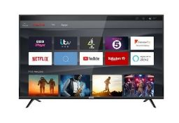 """TCL 43"""" SMART 4K ULTRA HD TV WITH FREEVIEW PLAY- 43DP628 / RRP £299.00 / TESTED AND WORKING. WAS"""