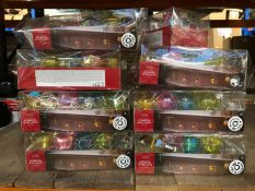APPROX 20 X BOXES OF GEOMETRIC GLASS LIGHTS / COMBINED RRP £100.00 / CUSTOMER RETURNS