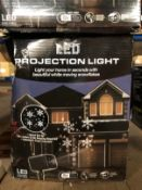 10 X LED SNOWFLAKE PROJECTION LIGHTS