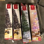 4 X ASSORTED CHRISTMAS TREES / COMBINED RRP £100.00 / CUSTOMER RETURNS