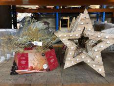 10 X CHRISTMAS LIGHT-UP STARS / CUSTOMER RETURNS
