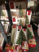 7 X ASSORTED CHRISTMAS TREES / CUSTOMER RETURNS