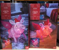 2 X FLYING PIG LIGHTS / COMBINED RRP £50.00 / LIKE NEW