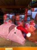 4 X FLYING PIG GARDEN LIGHTS / COMBINED RRP £100.00 / CUSTOMER RETURNS