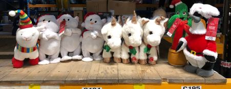 1 X ASSORTMENT OF CHRISTMAS THEMED SOFT TOYS / AS NEW