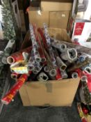 1 X BOX FILLED WITH WRAPPING PAPER / CONDITIONS VARY