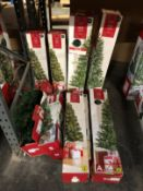 10 X ASSORTED CHRISTMAS TRESS / COMBINED RRP £125.00 / CUSTOMER RETURNS