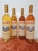 ONE LOT TO CONTAIN 2 x LILLET BLANC 75CL / 2 x LILLET ROSE 75CL
