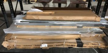 1 X BULK PALLET TO CONTAIN A LARGE NUMBER OF BATHSTORE SHOWER SCREENS / COLOURS, SIZES AND