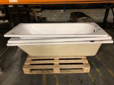 1 X BULK PALLET TO CONTAIN 3 X GRADE A/C BATHS / COLOURS, SIZES AND CONDITIONS MAY VARY