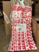 80 X BEER BAGS / COMBINED RRP £120.00 / AS NEW
