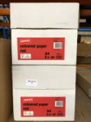 2 X BOXES OF STAPLES A4 RED COLOURED PAPER / AS NEW
