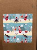 4 X BOXES OF KIDS DESIGN CHRISTMAS WRAPPING PAPER - 25 ROLLS PER BOX / AS NEW