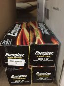 1 LOT TO CONTAIN 4 BOXES OF ENERGIZER INDUSTRIAL D12 BATTERIES, EACH BOX CONTAINS 12 BATTERIES - L4
