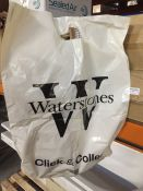 1 LOT TO CONTAIN A BOX OF WATERSTONES LARGE CARRIER BAGS WITH BRANDING (STRONG BAGS) - L4