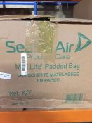 1 LOT TO CONTAIN A BOX OF SEALED AIR MAIL LITE PADDED BAGS 362 X 476MM - L4
