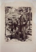 Berginvaliden (1920)Lithography on paper. Signed, dated, titled and denoted. Sheet size: 50,5 x 35,2