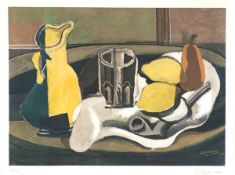 """Nature morte aux citrons (1960)The lower border signed in pencil. Numbered """"143/300"""". Printed"""