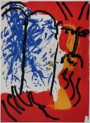 """Moses (1956)Colour lithograph on paper. Mourlot 124. From the folder """"Bibel I"""". Printed by"""