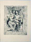 Corinth, Lovis Radierung auf Zanders Velin mit Wasserzeichen, 27,7 x 21,7 cm Weislingen und Marie
