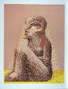 Antes, Horst Farblithographie auf Rives Bütten, 61,4 x 47,1 cm Sitzende Figur mit Schleier (1979)