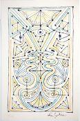 """Cocteau, Jean 2 Farblithographien auf Bütten Geometrie decorative II (1958) Aus der Mappe """"La"""