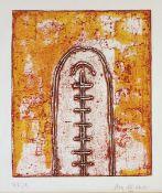 del Alisal, Eloy Farbradierung auf Fabriano Bütten, 25 x 21 cm Desde finisterre (1991) Signiert.