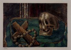 Braque, Georges Farblithographie auf Papier, 14,3 x 20,9 cm Vanitas (1945) Maeght, no. 1010.