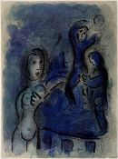 Chagall, Marc Farblithographie auf Papier Rahab und die Kundschafter in Jericho (1960) Mourlot 243.