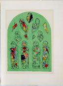 Chagall, Marc Farblithographie auf Arches Bütten, 31,4 x 23 cm Studie für ein Glasfenster der St.
