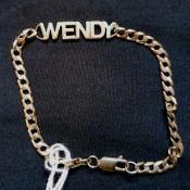 A 9ct gold bracelet (a.f).