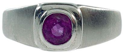 Ringe mit Steinbesatz Attraktiver Herrenfingerring. Unikat. Juwelier Czaja. 585er WG, gestempelt,