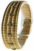 Armbänder Hochwertiges Armband, 750er GG, gestempelt. Besatz aus 21 Achtkantdiamanten, H bzw. Weiß