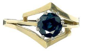 Ringe mit Steinbesatz Damenfingerring mit dunkelgrünem Steinbesatz, wohl Turmalin, nicht getestet.