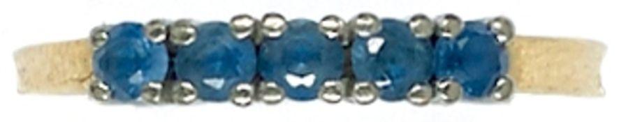Ringe mit Steinbesatz Damenfingerring mit Besatz aus fünf wohl Saphiren, nicht getestet, in WG-
