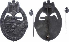 Auszeichnungen Wehrmacht Heer 2. Weltkrieg Panzerkampfabzeichen in Silber, Souval Fertigung,