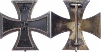 Auszeichnungen Deutscher Staaten bis 1933 Preußen, Eisernes Kreuz 1914 1. Klasse, gewölbte Form,