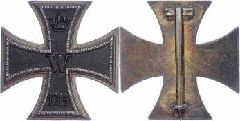 Auszeichnungen Deutscher Staaten bis 1933 Preußen, Eisernes Kreuz 1914 1. Klasse, flache Form, Eisen