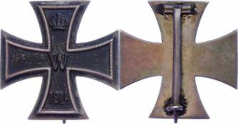Auszeichnungen Deutscher Staaten bis 1933 Preußen, Eisernes Kreuz 1914 1. Klasse, flache Form, Nadel