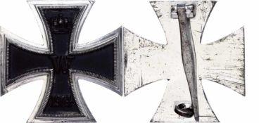 Auszeichnungen Deutscher Staaten bis 1933 Preußen, Eisernes Kreuz 1914 1. Klasse, flache Form, unter