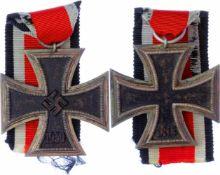 Allg. militärische Auszeichnungen 2. Weltkrieg Eisernes Kreuz 1939 2. Klasse, mit Band, Zustand
